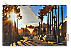 Sunset In Daytona Beach Carry-all Pouch by Alice Gipson