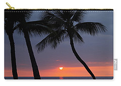 Sunset In Hawaii Carry-all Pouch by Athala Carole Bruckner