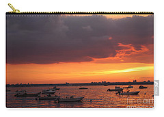 Carry-all Pouch featuring the photograph Sunset In Manhasset Bay by Dora Sofia Caputo Photographic Art and Design