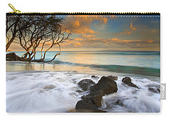Sunset In Paradise Carry-all Pouch by Mike  Dawson
