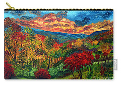 Sunset In Shenandoah Valley Carry-all Pouch