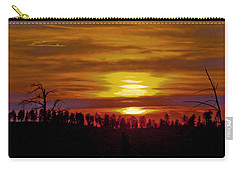 Carry-all Pouch featuring the photograph Sunset In The Black Hills 2 by Cathy Anderson