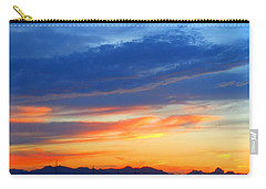 Sunset In The Black Mountains Carry-all Pouch