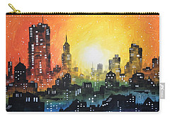Sunset In The City Carry-all Pouch