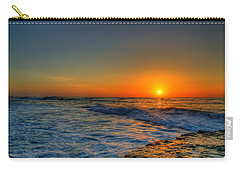 Sunset In The Cove Carry-all Pouch by Dave Files
