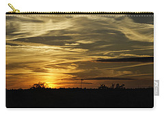 Carry-all Pouch featuring the photograph Sunset In The Forest by Judy Hall-Folde