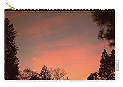 Sunset In Winter Carry-all Pouch by Michele Myers