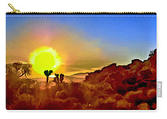 Sunset Joshua Tree National Park V2 Carry-all Pouch