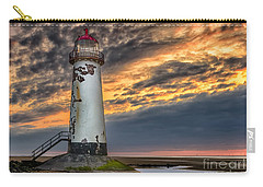 Sunset Lighthouse Carry-all Pouch by Adrian Evans