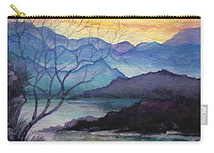 Sunset Montains Carry-all Pouch by Alban Dizdari