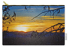 Carry-all Pouch featuring the photograph Sunset Mountain To Mountain by Janie Johnson