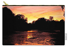 Carry-all Pouch featuring the photograph Sunset Near Rosemere - Qc by Juergen Weiss