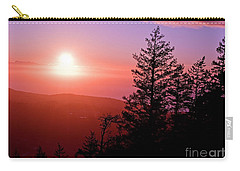 Sunset Off Mt Erie Washington Art Prints Carry-all Pouch