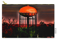 Sunset On A Charlotte Water Tower By Diana Sainz Carry-all Pouch