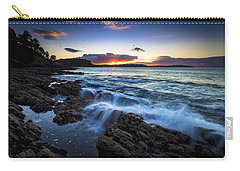 Carry-all Pouch featuring the photograph Sunset On Ber Beach Galicia Spain by Pablo Avanzini