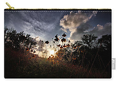 Sunset On Daisy Carry-all Pouch by Linda Unger