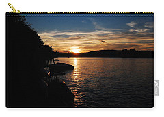 Carry-all Pouch featuring the photograph Sunset On Halfmoon by Mim White