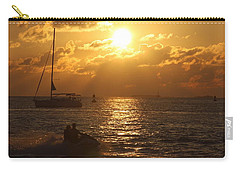 Carry-all Pouch featuring the photograph Sunset Over Key West by Christiane Schulze Art And Photography
