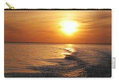 Carry-all Pouch featuring the photograph Sunset On Long Island Sound by Karen Silvestri