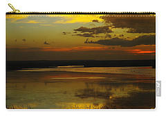 Sunset On Medicine Lake Carry-all Pouch by Jeff Swan