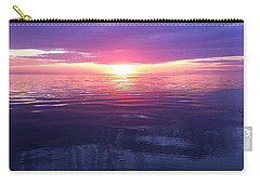Carry-all Pouch featuring the photograph Sunset On The Bay by Tiffany Erdman