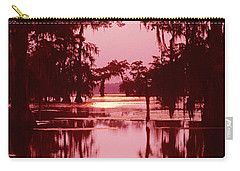 Carry-all Pouch featuring the photograph Sunset On The Bayou Atchafalaya Basin Louisiana by Dave Welling