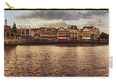 Sunset On The Boardwalk Walt Disney World Carry-all Pouch by Thomas Woolworth