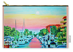 Carry-all Pouch featuring the painting Sunset On The Canal by Deborah Boyd