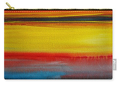Carry-all Pouch featuring the painting Sunset On The Puget Sound by Jani Freimann