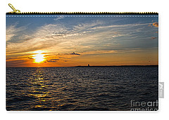 Carry-all Pouch featuring the photograph Sunset On The Water In Provincetown by Eleanor Abramson