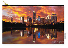 Sunset Over Austin Carry-all Pouch