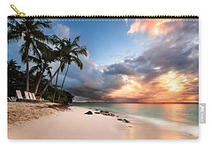 Carry-all Pouch featuring the photograph Sunset Over Bacardi Island by Mihai Andritoiu