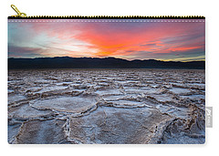 Sunset Over Badwater Carry-all Pouch