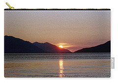 Sunset Over Cook Inlet Alaska Carry-all Pouch by Denyse Duhaime