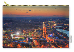 Sunset Over Fenway Park And The Citgo Sign Carry-all Pouch by Joann Vitali