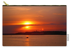 Sunset Over Lake Ozark Carry-all Pouch by Cricket Hackmann