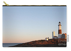 Sunset Over Montauk Lighthouse Carry-all Pouch by John Telfer