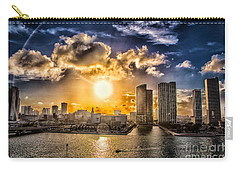 Sunset Over The Arena Hdr Carry-all Pouch by Rene Triay Photography