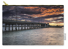 Sunset Over The Drawbridge Carry-all Pouch by Fran Gallogly