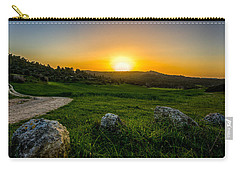 Sunset Over The Judean Hills Carry-all Pouch