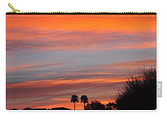 Sunset Over The Mountains Carry-all Pouch by Jay Milo