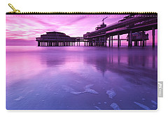 Carry-all Pouch featuring the photograph Sunset Over The Pier by Mihai Andritoiu