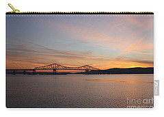 Sunset Over The Tappan Zee Bridge Carry-all Pouch by John Telfer