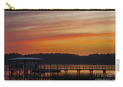 Carry-all Pouch featuring the photograph Sunset Over The Wando River by Dale Powell