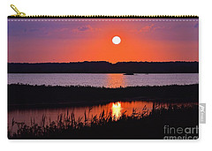 Sunset Over The Wetlands Carry-all Pouch