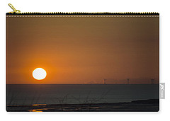 Sunset Over The Windfarm Carry-all Pouch by Spikey Mouse Photography