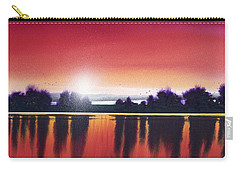 Sunset Over Two Lakes Carry-all Pouch
