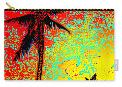 Carry-all Pouch featuring the photograph Sunset Palms by David Lawson