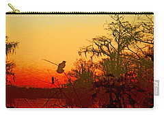 Sunset Perch Lake Martin Louisiana Carry-all Pouch by Lizi Beard-Ward