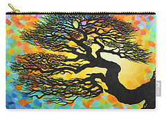 Carry-all Pouch featuring the painting Sunset Pine by Jane Girardot